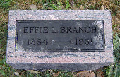 BRANCH, EFFIE L. - Clayton County, Iowa | EFFIE L. BRANCH