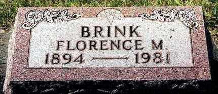 BRINK, FLORENCE M. - Clayton County, Iowa   FLORENCE M. BRINK