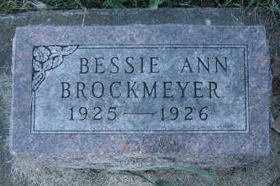 BROCKMEYER, BESSIE ANN - Clayton County, Iowa | BESSIE ANN BROCKMEYER