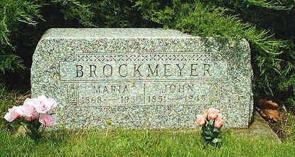 HILDEBRANDT BROCKMEYER, MARIA - Clayton County, Iowa | MARIA HILDEBRANDT BROCKMEYER