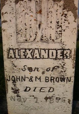 BROWN, ALEXANDER - Clayton County, Iowa   ALEXANDER BROWN
