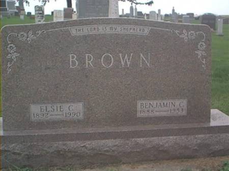 BROWN, BENJAMIN C. & ELSIE C. - Clayton County, Iowa | BENJAMIN C. & ELSIE C. BROWN