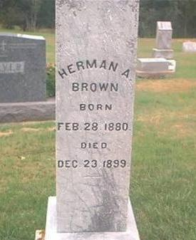 BROWN, HERMAN A - Clayton County, Iowa | HERMAN A BROWN