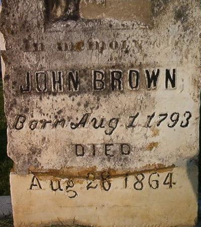 BROWN, JOHN - Clayton County, Iowa   JOHN BROWN