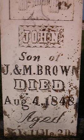 BROWN, JOHN - Clayton County, Iowa | JOHN BROWN