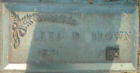 BROWN, LETA D. - Clayton County, Iowa | LETA D. BROWN