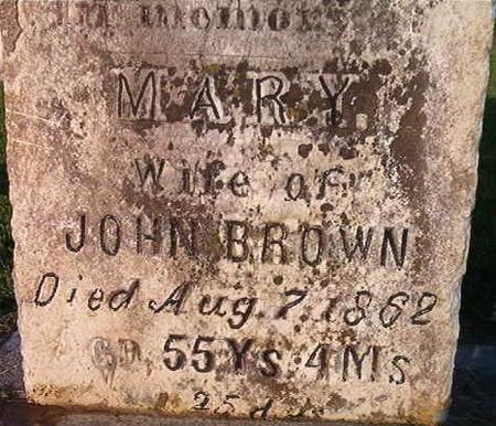 BROWN, MARY - Clayton County, Iowa | MARY BROWN