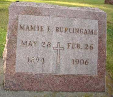 BURLINGAME, MAMIE E. - Clayton County, Iowa | MAMIE E. BURLINGAME