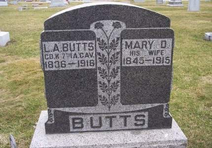 BUTTS, L.A. - Clayton County, Iowa | L.A. BUTTS