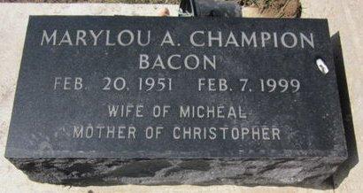 BACON CHAMPION, MARYLOU A. - Clayton County, Iowa | MARYLOU A. BACON CHAMPION