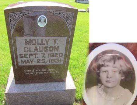 CLAUSON, MOLLY T. - Clayton County, Iowa   MOLLY T. CLAUSON