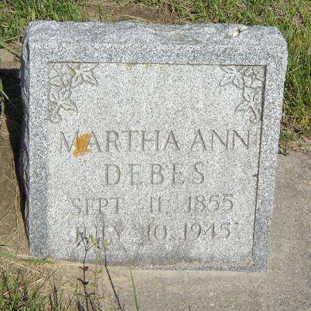 OSBORNE DEBES, MARTHA ANN - Clayton County, Iowa | MARTHA ANN OSBORNE DEBES
