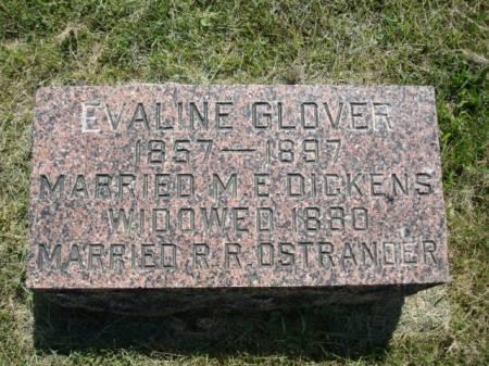 GLOVER DICKENS, EVALINE - Clayton County, Iowa | EVALINE GLOVER DICKENS