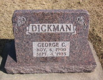 DICKMAN, GEORGE C. - Clayton County, Iowa | GEORGE C. DICKMAN