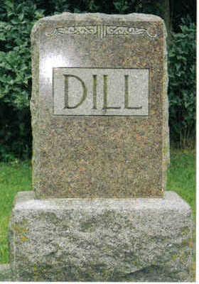 DILL, FAMILY PLOT MARKER - Clayton County, Iowa | FAMILY PLOT MARKER DILL