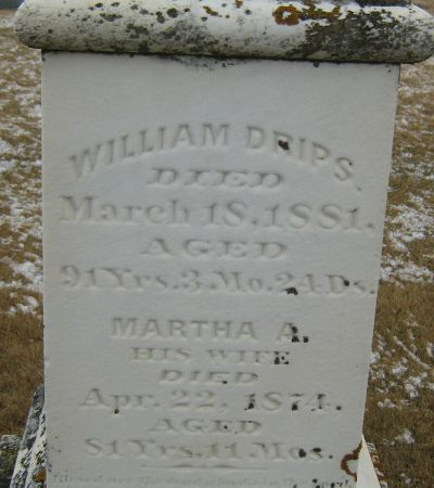 DRIPS, WILLIAM - Clayton County, Iowa   WILLIAM DRIPS