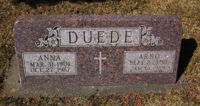 DUEDE, ANNA - Clayton County, Iowa | ANNA DUEDE