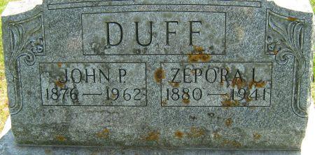 DUFF, ZEPORA LOUISE - Clayton County, Iowa   ZEPORA LOUISE DUFF