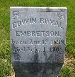 EMBRETSON, EDWIN ROYAL - Clayton County, Iowa | EDWIN ROYAL EMBRETSON