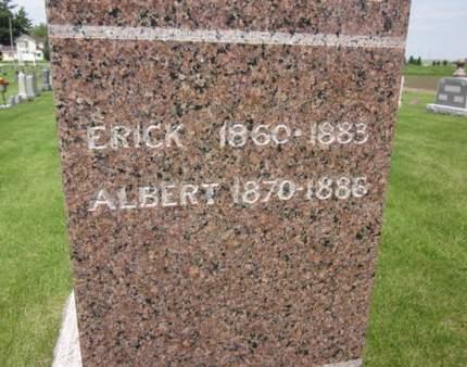 ERICKSON, ALBERT - Clayton County, Iowa | ALBERT ERICKSON