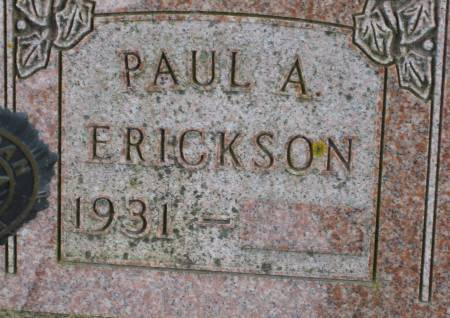 ERICKSON, PAUL A. - Clayton County, Iowa | PAUL A. ERICKSON