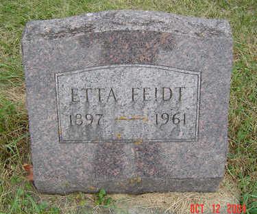 FIEDT, ETTA - Clayton County, Iowa | ETTA FIEDT