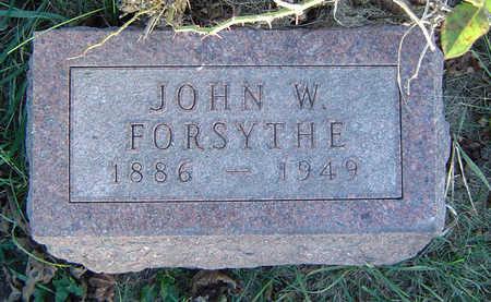 FORSYTHE, JOHN W. - Clayton County, Iowa   JOHN W. FORSYTHE