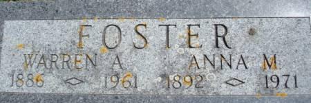 FOSTER, WARREN A. - Clayton County, Iowa   WARREN A. FOSTER
