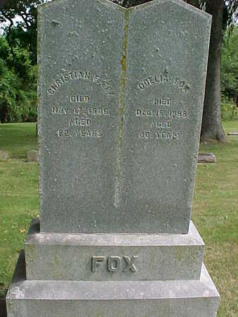 FOX, CHRISTIAN  F. - Clayton County, Iowa | CHRISTIAN  F. FOX
