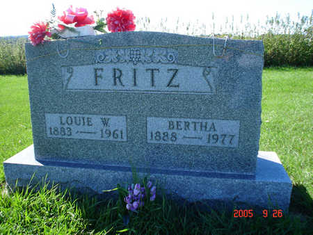 FRITZ, BERTHA - Clayton County, Iowa | BERTHA FRITZ