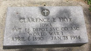 FRYE, CLARENCE E. - Clayton County, Iowa   CLARENCE E. FRYE