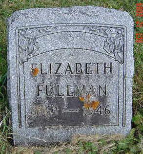 FULLMAN, ELIZABETH - Clayton County, Iowa   ELIZABETH FULLMAN