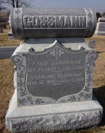 GOSSMANN, FRED - Clayton County, Iowa | FRED GOSSMANN