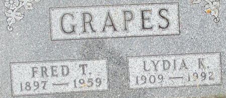 FREDERICK GRAPES, LYDIA KATHRYN - Clayton County, Iowa   LYDIA KATHRYN FREDERICK GRAPES