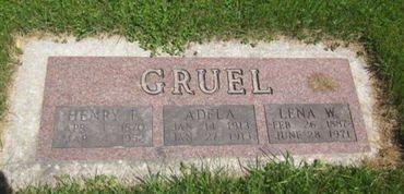 GRUEL, LENA W. - Clayton County, Iowa | LENA W. GRUEL