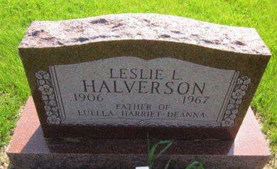 HALVERSON, LESLIE L. - Clayton County, Iowa   LESLIE L. HALVERSON