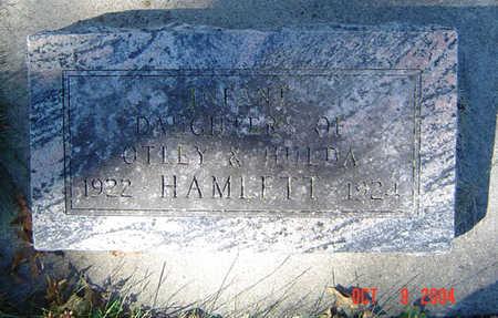 HAMLETT, INFANT DAUGHTER - Clayton County, Iowa | INFANT DAUGHTER HAMLETT