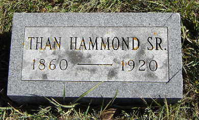 HAMMOND, THAN SR. - Clayton County, Iowa | THAN SR. HAMMOND