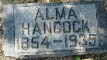 HANCOCK, ALMA - Clayton County, Iowa   ALMA HANCOCK