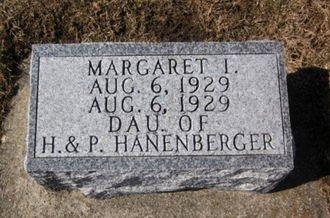 HANENBERGER, MARGARET I. - Clayton County, Iowa | MARGARET I. HANENBERGER
