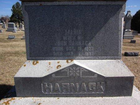 HARNACK, MARIA - Clayton County, Iowa | MARIA HARNACK