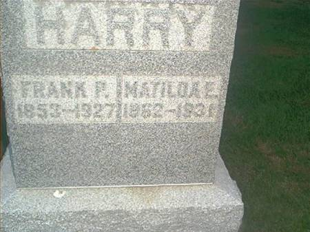 HARRY, FRANK P. & MATILDAE - Clayton County, Iowa | FRANK P. & MATILDAE HARRY