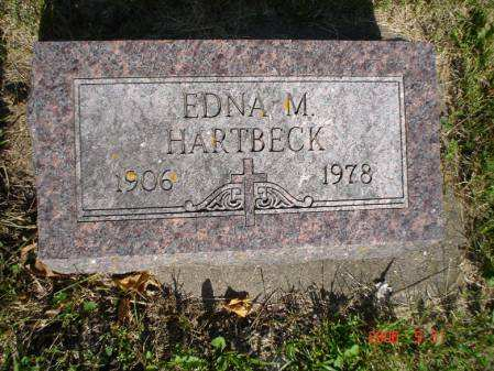 SCOVEL HARTBECK, EDNA M. - Clayton County, Iowa | EDNA M. SCOVEL HARTBECK