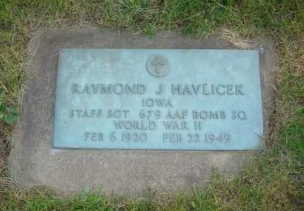 HAVLICEK, RAYMOND J. - Clayton County, Iowa | RAYMOND J. HAVLICEK