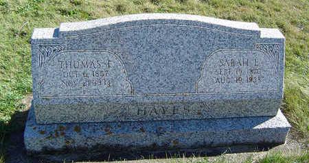 HAYES, SARAH E. - Clayton County, Iowa | SARAH E. HAYES