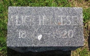 HELGESEN, ALICE - Clayton County, Iowa   ALICE HELGESEN