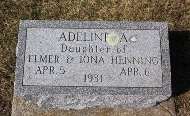 HENNING, ADELINE A. - Clayton County, Iowa | ADELINE A. HENNING