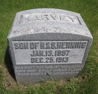 HENNING, HARVEY - Clayton County, Iowa   HARVEY HENNING