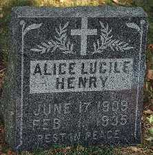HENRY, ALICE LUCILE - Clayton County, Iowa | ALICE LUCILE HENRY