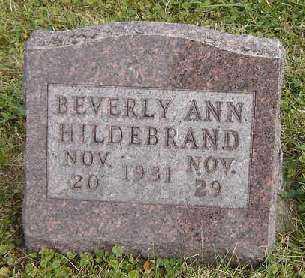 HILDEBRAND, BEVERLY ANN - Clayton County, Iowa | BEVERLY ANN HILDEBRAND